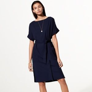 Babaton Aritzia Black Albin Belted Dress Small